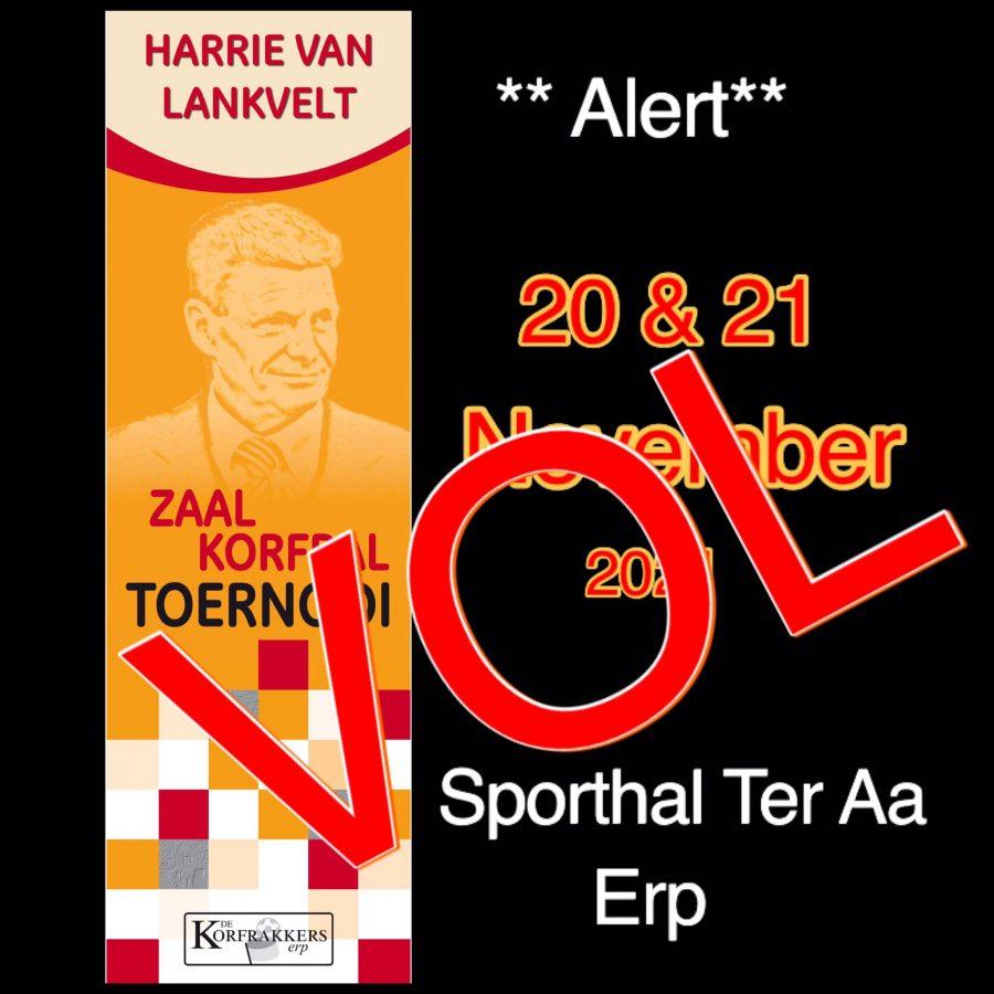 Harrie van Lankvelt toernooi is VOL!
